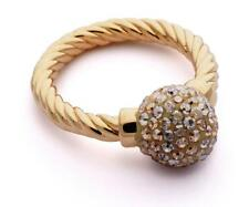 Brand New PHANTASYA Swarovski element RING Crystal Ball GOLD Size 56 jewellery