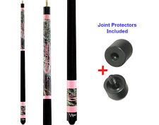 Viper Realtree Pink Camo 50-9004 Pool Cue Stick 18-21 oz & Joint Protectors