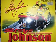 ++ AUTOGRAPHED STEVE JOHNSON, 1:9 SNAP-ON NHRA COLLECTIBLE PRO STOCK MOTORCYCLE