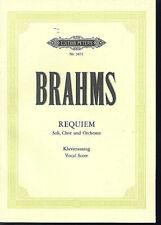 Brahms ~ REQUIEM - Soli, Chor und Orchester ~ Klavierauszug