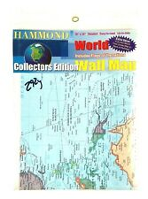 Hammond World Wall Map 50� X 38� Collectors Edition New & Sealed