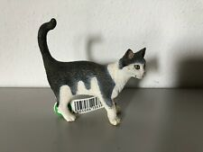 Schleich Grey & White Cat Domestic Animal Figure 2008 Retired 13638 With Tag