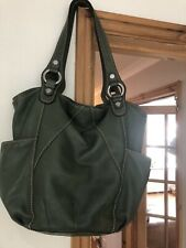 tignanello leather handbag green