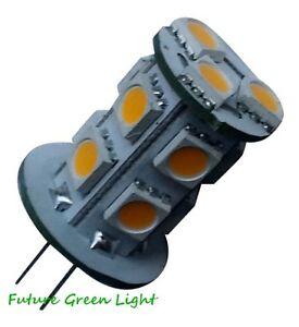 G4 13 SMD LED 12V (12-18V AC / 10-30V DC) 2.5W 180LM WHITE BULB ~25W