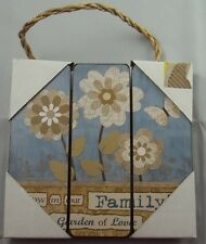 Family Garden Of Love Inspirational Wood Sign Plaque Hanging Wall Art #201