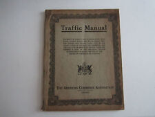 1919 TRAFFIC MANUAL - THE AMERICAN COMMERCE ASSOCIATION - BN-2