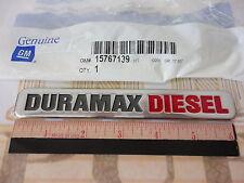 Chevrolet GMC Duramax Diesel RH or LH Chrome & Red Door EMBLEM new OEM 15767139