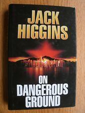 Jack Higgins On Dangerous Grounds SIGNED book plate 1st ed UK HC
