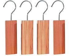 Zedernholzblöcke mit Metallhaken gegen Motten Zedernholz Mottenabwehr im 4er-Set