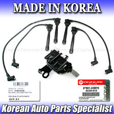 IC009 2 PC Ignition Coil Spark Plug Wire Set FOR Hyundai 27301-23700 27501-23B70