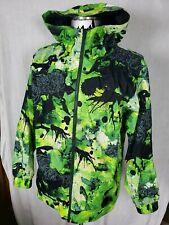 EUC Nike 6.0 Kampai Green Neon Tie Dye Print Snowboarding Jacket Mens Size Large