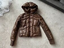 Pinko Brown 80% Down 20 Feather short jacket , Size GB 14 ,USA 10,It 48