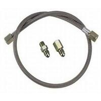 48 Inch Stainless Steel Brake Line w// 90 Degree AN4 End