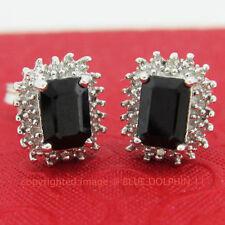 Diamond Cluster Sapphire Fine Earrings