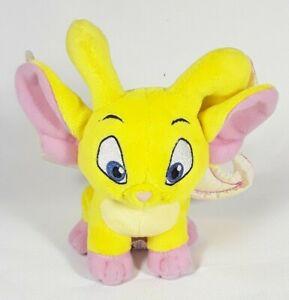 "Yellow Neopets Faerie Acara Shimmering Wings Stuffed Plush 2008 6"""
