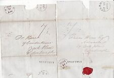 * 1838 X 2 Earlston PMK letras John Spence > Francis Horne York lugar Edimburgo