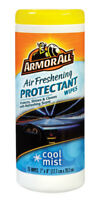 Armor All Air Freshening Protectant Wipes Renews vinyl rubber 25 Wipes Cool Mist