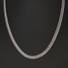 6.5mm 316L Men`s Silver Stainless Steel Byzantine Box Link Chain Necklace 23.58""