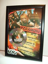 PARAMORE  SIGNED  GOLD CD  DISC  915