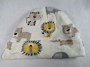 Gerber Organic Cats Lion Tiger Bear Baby 0-6 Months Size Bucket Cap Hat Great
