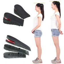 3-Layer 6cm Shoe Insole AIR Cushion Heel Insert Increase Taller Height Lift Pads