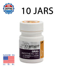 10x JARS ELEMENT 20% Benzocaine Topical Anesthetic Gel MANGO Tattoo Piercing