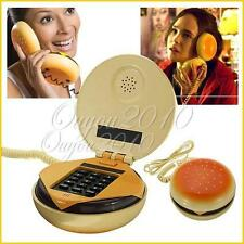 Novetly Juno Hamburger Cheeseburger Burger Corded Phone Telephone Gift Home hot