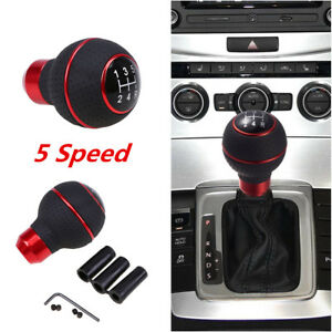 1pcs Car SUV Manual 5 Speed Gear Stick Shift Knob Cover Handle Shifter Lever Red