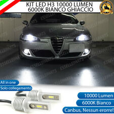 KIT LED FENDINEBBIA ALFA ROMEO 147 LAMPADE LED H3 BIANCO XENO 10.000 LUMEN