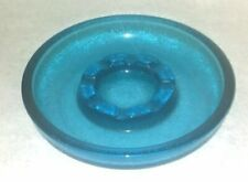 """Big Blue Party Ashtray in Retro Vintage Glass 10.5""""  Over 4 Pounds!!"""