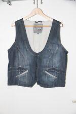 Jeans-Weste von CECIL, XL, aufwändige Details, Weitenregulierbar an Rückseite