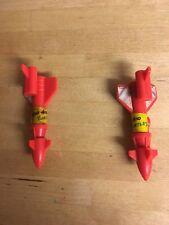 2 X Bombs Missiles For Pogocopter TMNT Teenage Mutant Ninja Turtles ROCKSTEADY