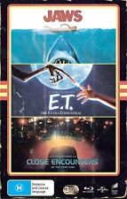 Jaws + Et + Close Encounters Of The Third Kind Blu-ray Vhs Edition