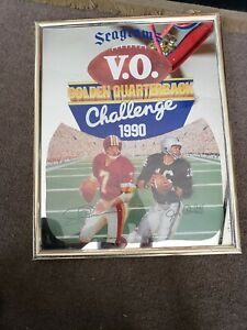 Seagrams 1990 vintage Golden quarterback Challenge Joe Theisman & Jim Plunket.