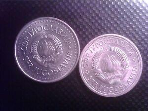 YUGOSLAVIA   1   DINAR    1980     10  DINARA  1987   SEP24