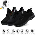 Men's Safety Trainers Women Lightweight Steel Toe Cap Work Boots Hiking Shoes UK
