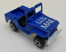 Matchbox Superfast 1976 Willys Jeep  US Mail Truck BLUE NO 5 GOOD CONDITION.
