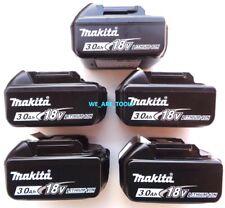 5 New GENUINE Makita Batteries BL1830B 3.0 AH 18 Volt For Drill, Saw,Grinder 18V