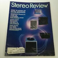 VTG Stereo Review Music Magazine April 1985 - David Bowie / Lou Reed / Speakers