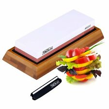 Premium Knife Sharpening Stone 3000/8000 Grits Double-Sided Whetstone with Non-S
