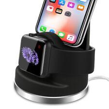 2 In 1 Ladegeräte Dockingstation Ladestation für Apple Watch für iphone Handy