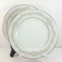 """Noritake Donegal Bread and Butter Plates Set of 2 White with Daisies 6-5/8"""""""