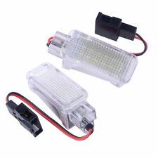 Pair Error Free White LED Footwell Light fit for Skoda Octavia MK3 5E 2012-2017