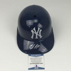 Autographed/Signed MIGUEL ANDUJAR NY Yankees Full Size FS Helmet Beckett BAS COA