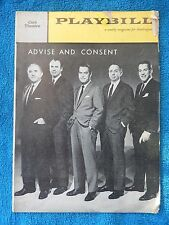 Advice And Consent - Cort Theatre Playbill - February 20th, 1961 - Ed Begley