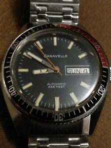 Vintage 1980 Caravelle Devil Diver Watch