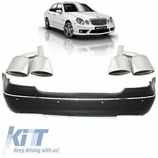 Mercedes-Benz W211 Rear bumper with PDC E-Class 07-09 Facelift AMG Look+Exhaust