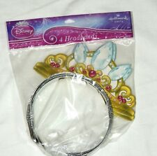 DISNEY PRINCESS 4- HEADBANDS -PARTY FAVORS -  PARTY SUPPLIES