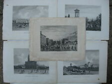 Old c.1850's Paris Chez Rittner Boulevard Montmartre Engravings Prints Lot (5)