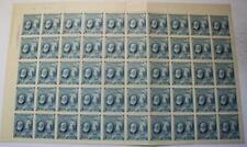 Canada #274, MNH OG Sheet Of 50, Folded & Will Ship Folded, Bell, U.L. Plate #1